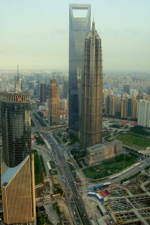 Всемирный финансовый центр и Башня Jin Mao Tower (Шанхай, Китай)
