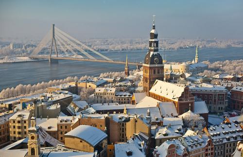 Зима в Риге (Латвия)